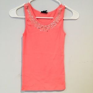 Limited Too Peach Colored Tank, Size 10